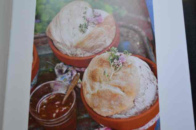 Flower pot cheese breads.