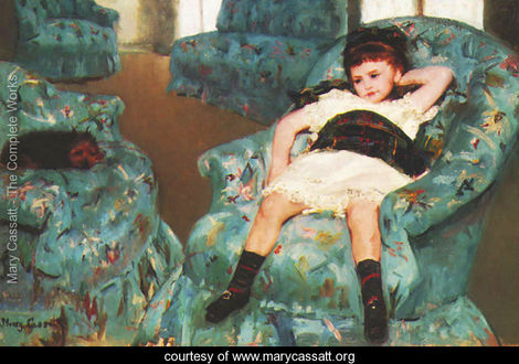 Little-Girl-in-a-Blue-Armchair,-1878