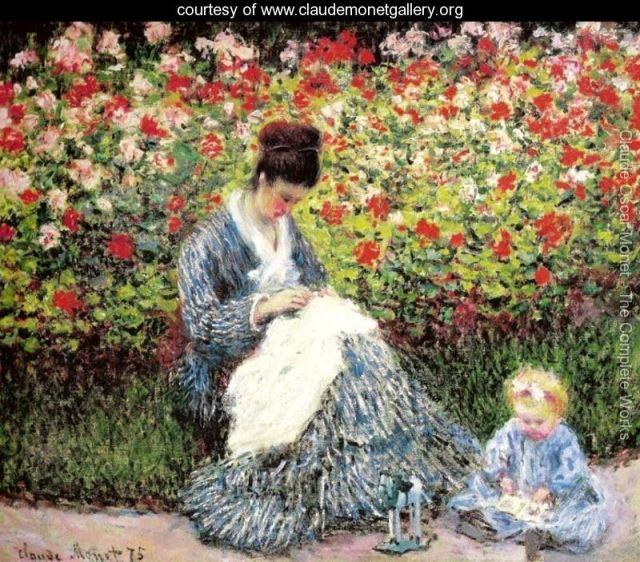 Madame-Monet-and-Child-(Camille-Monet-and-a-Child-in-a-Garden)-large