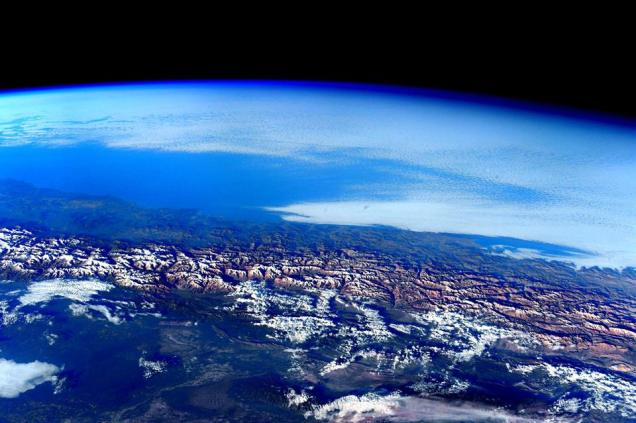 Andes Mountains from ISS by Scott Kelly Jan 2016