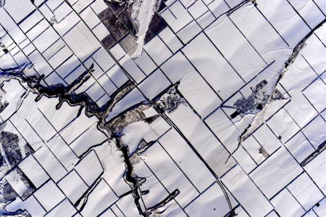 Snow from ISS.