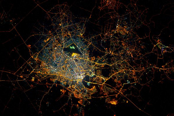 Ho Chi Minh City from ISS by Astronaut Scott Kelly on February 15, 2016.