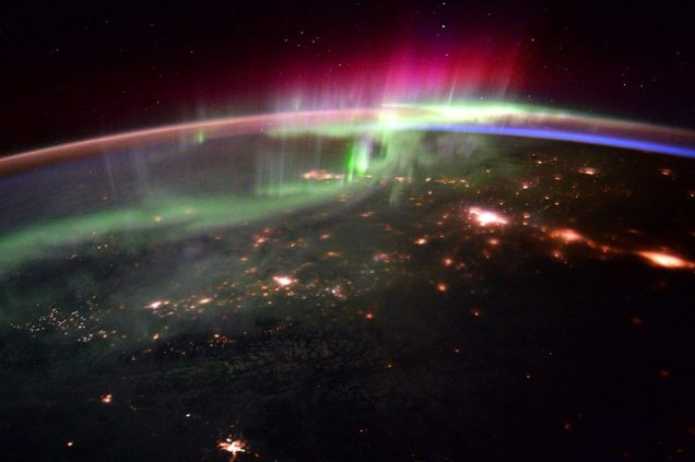 Morning Aurora in the PNW from ISS - Scott Kelly Jan 2016