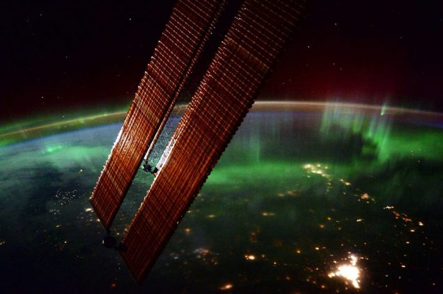 Morning Aurorai from ISS - Scott Kelly
