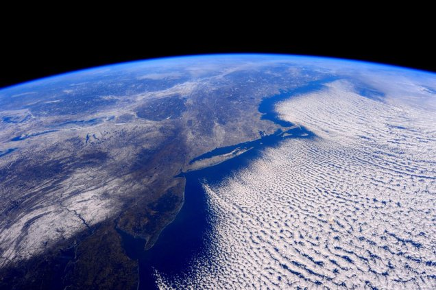 Polar vortex from ISS by Astronaut Scott Kelly on February 14, 2016.