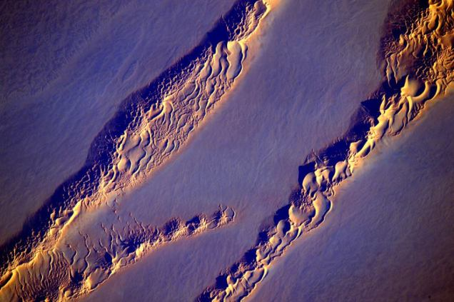 """Earth Art : Desert Dunes"" from ISS by Astronaut Scott kelly, February 28, 2016."