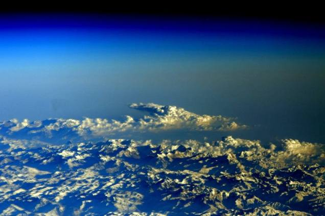 """""""Near the top of the world"""" from ISS by Astronaut Scott kelly, February 24, 2016."""